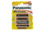 Батарейка Panasonic Alkaline Power LR6 (4*Вl) Bronze (48/240)
