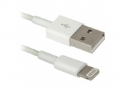 Кабель USB AM - iPhone5 1 м, для iPhone5/6/7, iPad/iPod, Defender, белый (1/200)