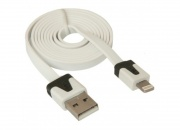 Кабель USB AM - Phone 5 1 м, для iPhone 5/6/7, iPod, iPad, плоский, Defender, белый (1/200)