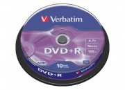 Диск DVD+R VERBATIM 4.7Gb, 16x Cake box
